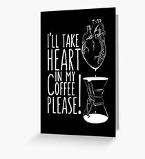 Put your heart into it man! Greeting Card
