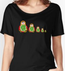 Cute Russian nesting dolls Women's Relaxed Fit T-Shirt