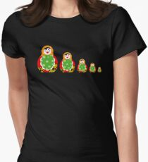 Cute Russian nesting dolls Womens Fitted T-Shirt