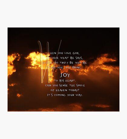 Love God-inspirational Photographic Print