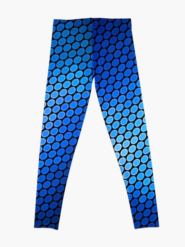 Alternate view of Blue LED Abstract Art Design Leggings