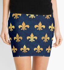ROYAL 1 GOLD BLUE GRUNGE Mini Skirt