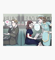 Agent Carter - Cozy Diner Times Photographic Print