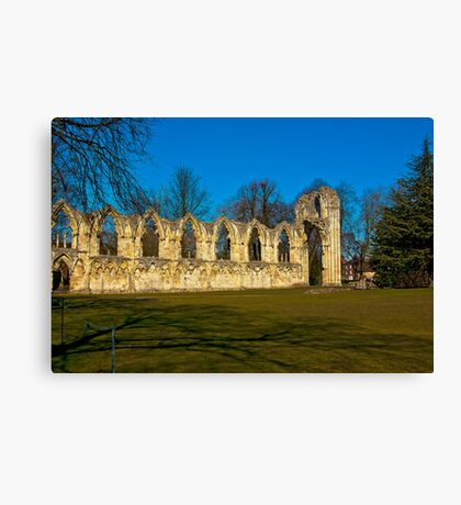 Ruins of St Mary's Abbey  -  York Canvas Print