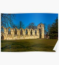 Ruins of St Mary's Abbey  -  York Poster