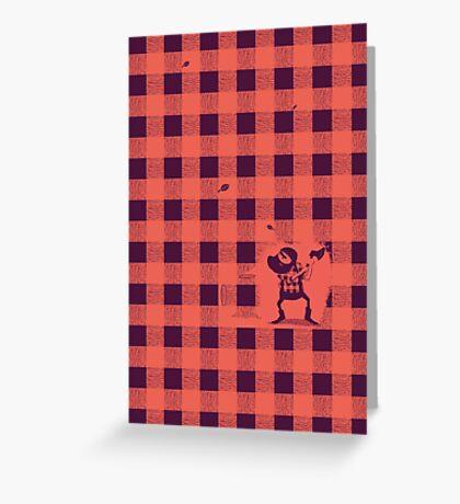 Almost a lumberjack pattern Greeting Card