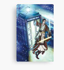 Sherlock and John - Jedi in the Tardis Canvas Print