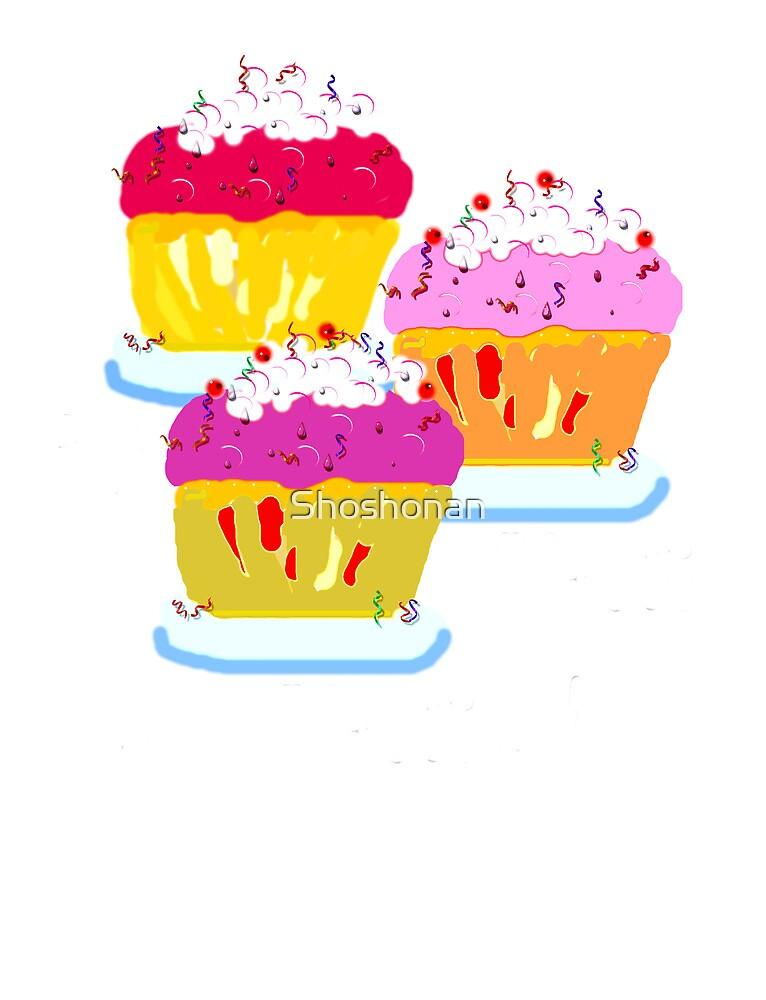 Three Muffins by Shoshonan