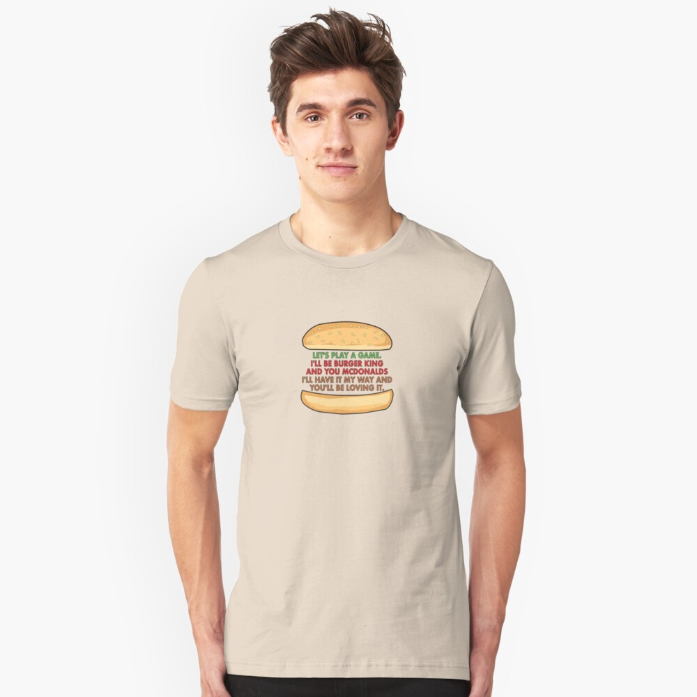 The Burger Corporate Tag Line Game Slim Fit T-Shirt