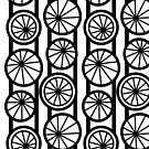 Orbit - Black & White Large-Scale Geometric by Hiirikki