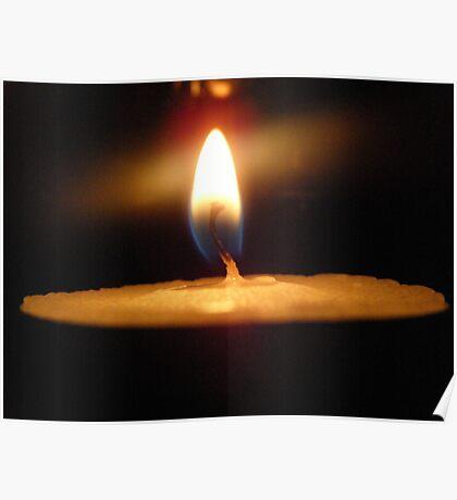 Tealight Burning Poster