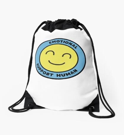 Emotional Support Human Drawstring Bag