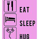 Essen, schlafen, wiederholen? Face Hugs sind für immer ... von electrovista