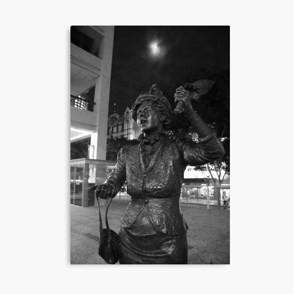 Town Crier Statue - Full Moon. Canvas Print