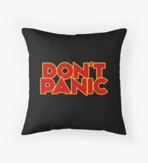 Dont Panic - The Hitchhiker's Guide to the Galaxy Throw Pillow