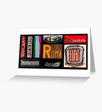 Italian Brands Greeting Card