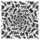Black cats swarm by shizayats