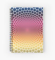 Optical Illusion Linear Gradient (Clear/White) Spiral Notebook