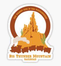Big Thunder Mountain Railroad Sticker