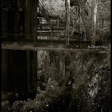 Diapidated quarry workings - Nazi labour camp by PeterHarpley
