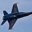 Solo Blue Angel rolling by Henry Plumley