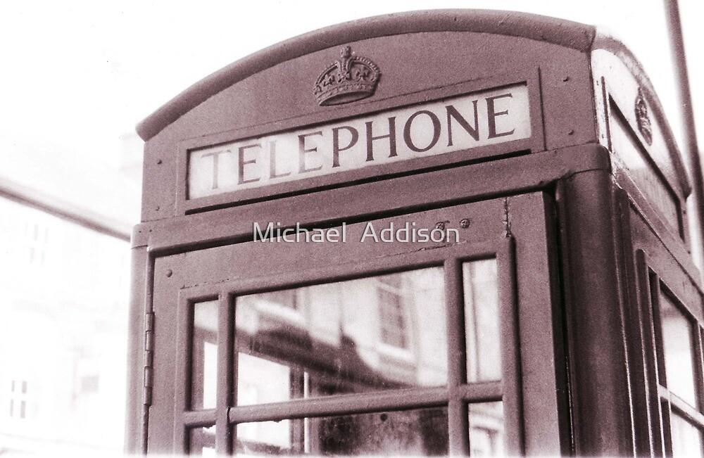English Telephone Box by Michael  Addison