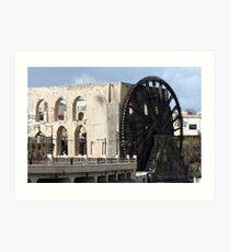 Water wheel in Hama, Syria Art Print