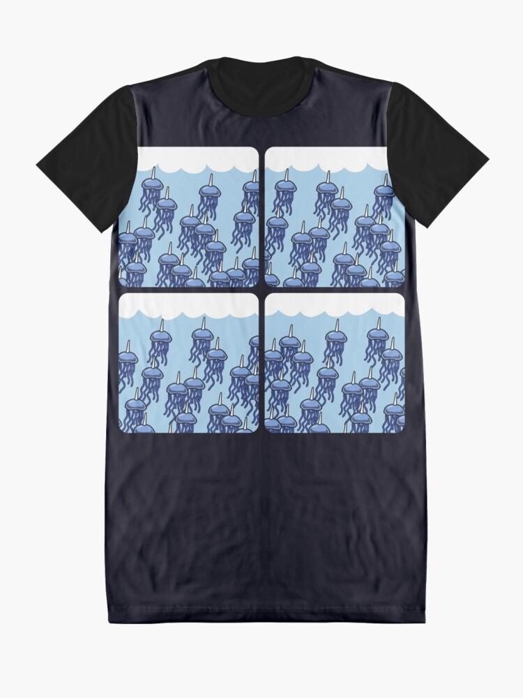 Vista alternativa de Vestido camiseta Jellycorn Swarm (amigos guerreros de cuernos)