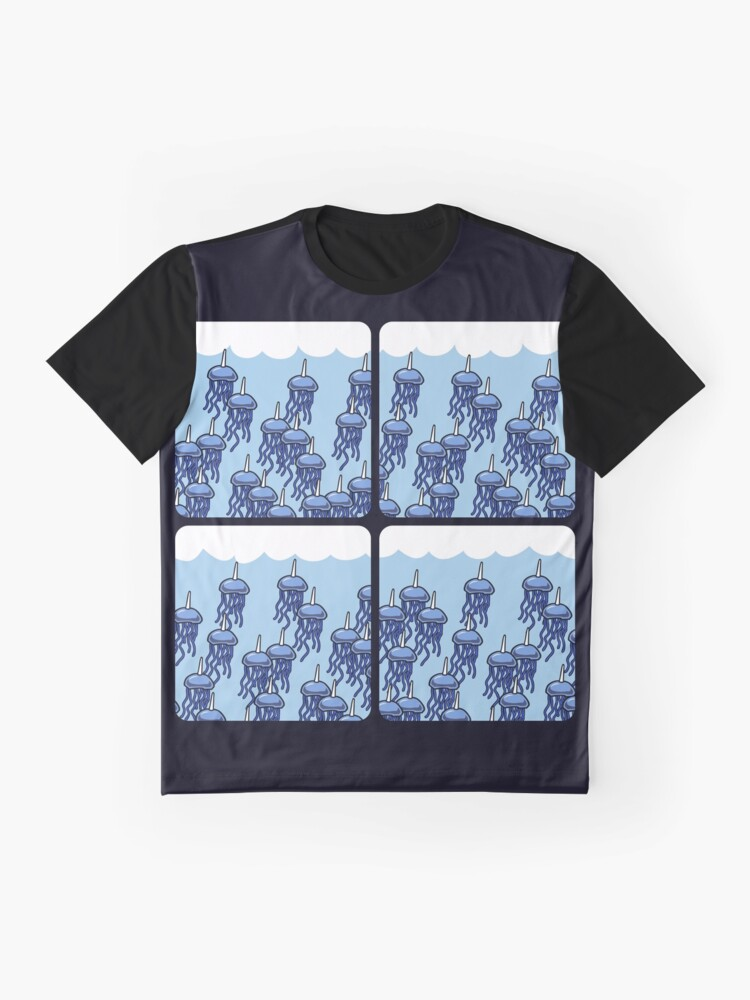 Vista alternativa de Camiseta gráfica Jellycorn Swarm (amigos guerreros de cuernos)