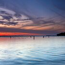 Grand Traverse Bay at Dusk by Megan Noble