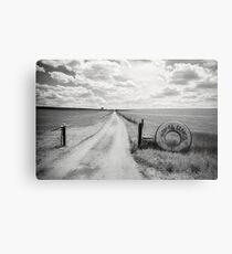 Mallee Farm Track, South Australia Metal Print