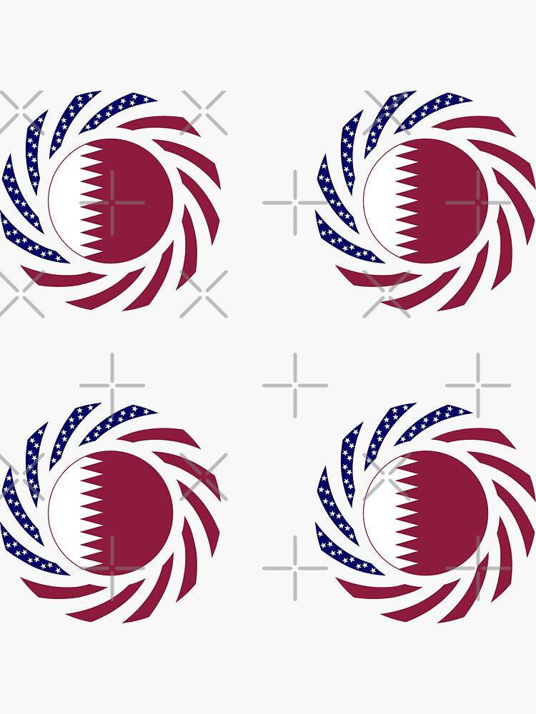 Qatari American Multinational Patriot Flag Series by carbonfibreme