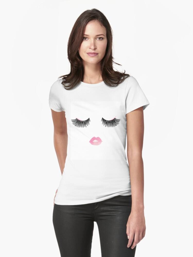 Fashion Eyelashes Womens T-Shirt Front
