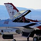 USAF Thunderbird #1 prepares for demo by Henry Plumley