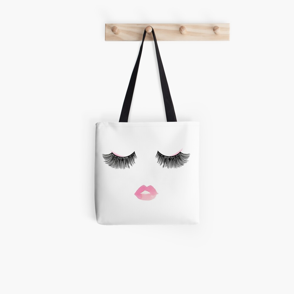 Mode-Wimpern Tote Bag