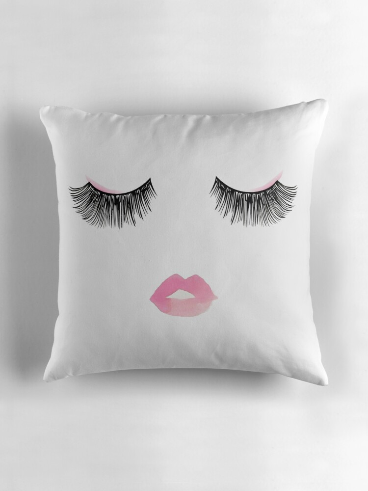 Cute Eyelash Pillow :