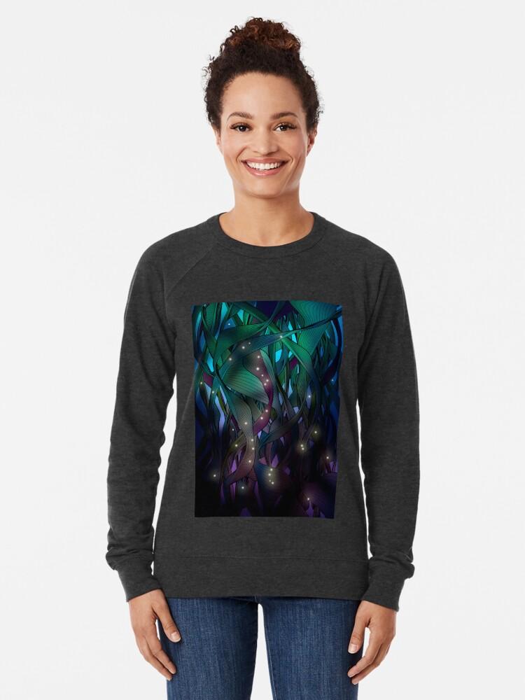Alternate view of Nocturne (with Fireflies) Lightweight Sweatshirt