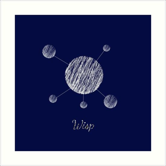 dota 2 io wisp sketch art prints by castledownpour redbubble