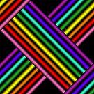 Rainbow Gradient Weave, Larger 1 by Etakeh
