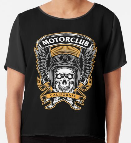 Skull Wings Motorclub California Chiffon Top