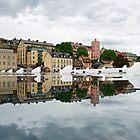 «Reflexión, frente al puerto de Estocolmo» de mypic