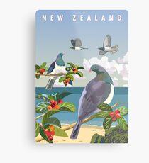 Lienzo metálico Kereru, Nueva Zelanda