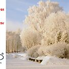 Christmas Holiday Card 8310 - Winter's Playground  Riga Latvia by FirstTree
