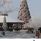 Christmas Holiday Card 5545V - Santa's Tree LIDO Riga Latvia by FirstTree