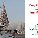 Christmas Holiday Card 5545 - Santa's Tree LIDO Riga Latvia by FirstTree