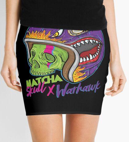 Matcha Skull Warhawk Mini Skirt