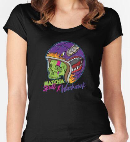 Matcha Skull Warhawk Fitted Scoop T-Shirt