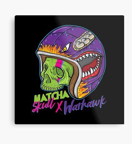 Matcha Skull Warhawk Metal Print