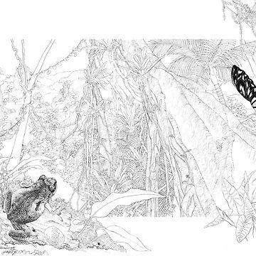 McDonald's Frog (ink draft) by LauraGrogan