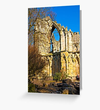 Ruins of St Mary's Abbey  -  York #2 Greeting Card